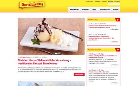 Screenshot of Blog netto-online.de - Der Netto Blog - captured Dec. 23, 2016