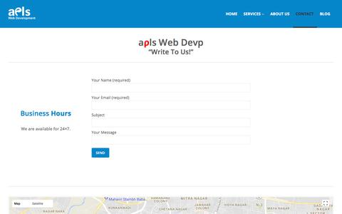 Screenshot of Contact Page Site Map Page aplswd.com - aPLS Web Development | Contact | aPLS Web Development - captured Oct. 7, 2017