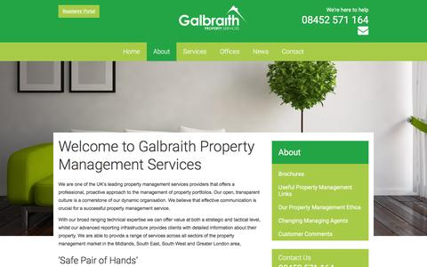 Screenshot of About Page galbraithproperty.com - About Galbraith Property Management Services - captured Jan. 25, 2016