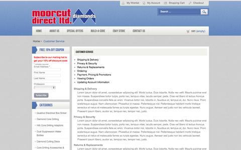 Screenshot of Support Page moorcut.co.uk - Moorcut Direct -  Customer Service - captured Nov. 2, 2014