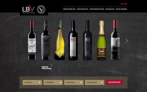 Screenshot of Home Page lbvinternational.com - LBV International | Agence de vin - Importation et vente au Québec - captured Jan. 16, 2015