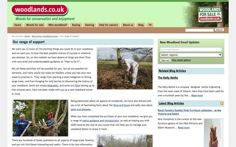 Screenshot of Support Page woodlands.co.uk - Our range of support | Woodlands.co.uk - captured Nov. 1, 2014