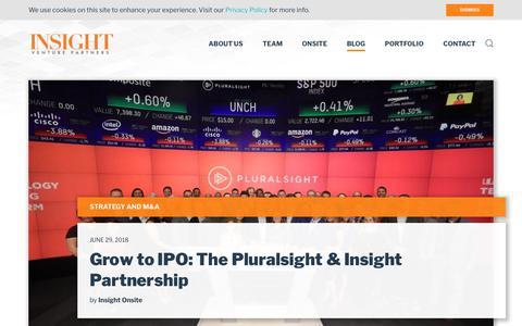 Screenshot of Blog insightpartners.com - Business Development Posts - captured July 18, 2018