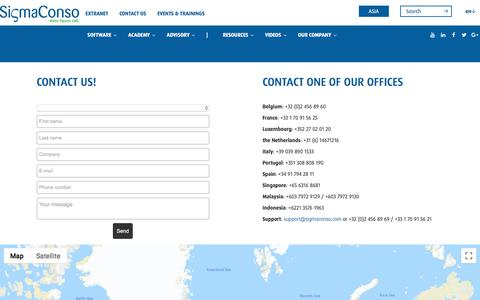 Screenshot of Contact Page sigmaconso.com - Contact Sigma Conso - captured Sept. 20, 2018