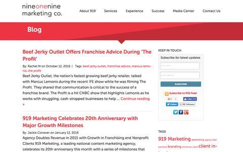 Screenshot of Blog 919marketing.com - Blog | 919 Marketing Company - captured June 10, 2017