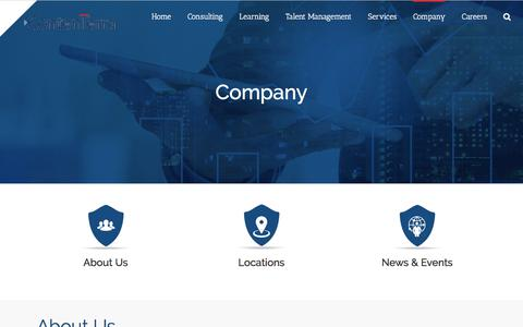 Screenshot of About Page Locations Page contenterra.com - Company – ContenTerra - captured Feb. 7, 2018