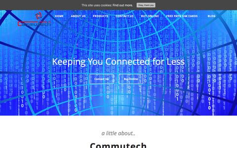 Screenshot of Home Page commutech.co.uk - Commutech - Keeping You Connected for Less - captured May 20, 2017