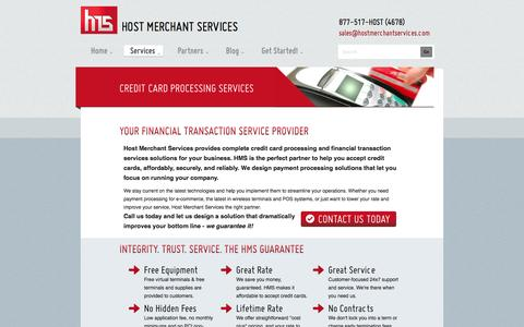 Screenshot of Services Page hostmerchantservices.com - Credit Card Processing and Merchant Services - captured Sept. 23, 2014