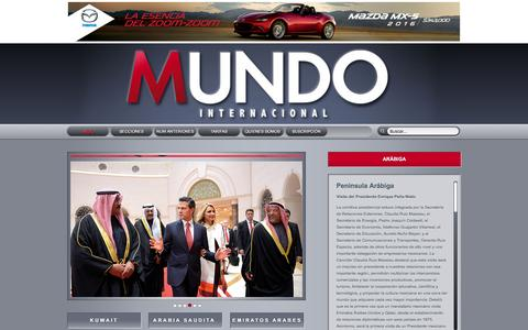 Screenshot of Home Page mundointernacional.com.mx - Revista Mundo Internacional - captured April 26, 2016