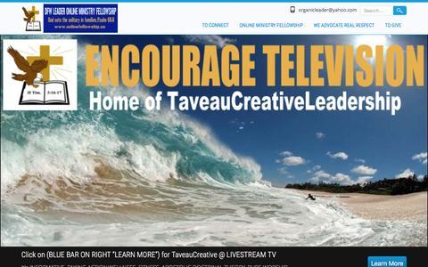 Screenshot of Home Page encouragetelevision.org - ENCOURAGE  TELEVISION - captured April 21, 2016