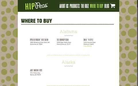 Screenshot of Locations Page hip-peas.com - Locations – Hip Peas - captured Nov. 10, 2016