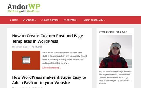 Andor WP - WordPress Tutorials, Themes, Plugins and more.