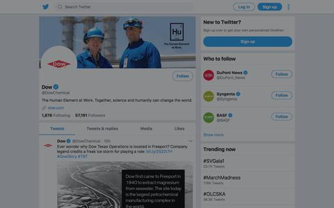 Tweets by Dow (@DowChemical) – Twitter