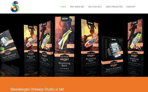 Screenshot of Home Page studiosteenbergen.nl - Full service reclamebureau uit Gouda | Steenbergen Ontwerp Studio - captured Oct. 20, 2018