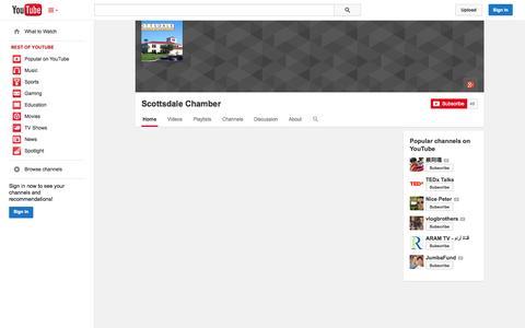 Screenshot of YouTube Page youtube.com - Scottsdale Chamber  - YouTube - captured Oct. 22, 2014