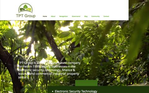 Screenshot of Home Page tptgroup.co.nz - TPT Group | Innovative & Sustainable Businesses - captured Feb. 5, 2016