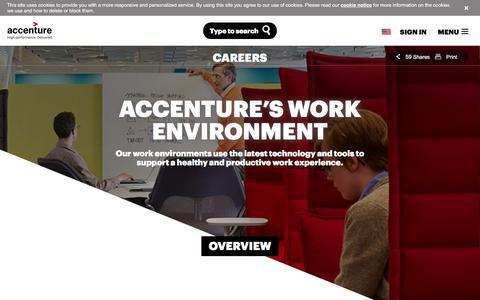 Screenshot of Jobs Page accenture.com - Accenture Work Environment - captured Oct. 16, 2017