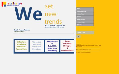Screenshot of Home Page retailrange.com - Retail Consulting|Complete Retail Solutions|Retail Consulting Firm|Retail Consultants - captured Oct. 9, 2014