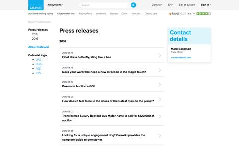 Press releases - Catawiki