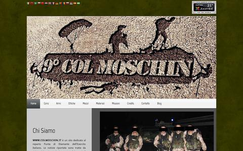 """Screenshot of Home Page colmoschin.it - IX Rgt """"Col Moschin"""" - captured Sept. 24, 2014"""