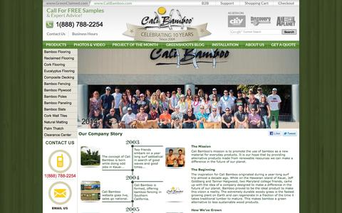 Screenshot of About Page calibamboo.com - Our Story - San Diego Based Green Company | Cali Bamboo - captured Sept. 19, 2014