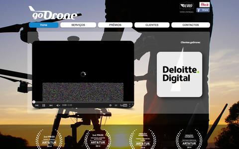 Screenshot of Home Page a3ro.pt - Fotogrametria, Topografia, Drones para profissionais - captured Feb. 3, 2016