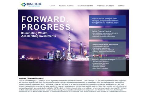 Screenshot of Home Page juncturewealth.com - Welcome   Juncture Wealth - captured Oct. 6, 2014