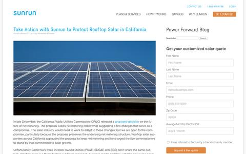 Screenshot of Blog sunrun.com - Power Forward Blog  Brought to you by Sunrun - captured Feb. 1, 2016