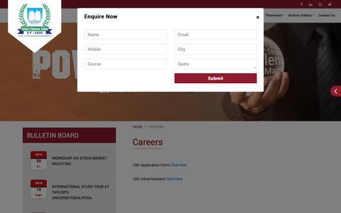 Screenshot of Jobs Page calcuttabusinessschool.org - Calcutta Business School - captured Nov. 4, 2018