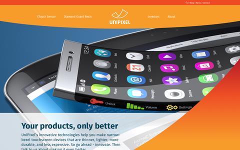 Screenshot of Home Page unipixel.com - Home - UniPixel - captured Feb. 21, 2016