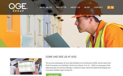 Screenshot of Blog qge.com.au - Blog - QGE Group - captured Sept. 25, 2018