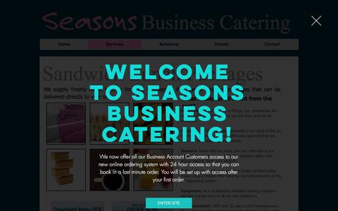 Screenshot of Services Page seasons-business-catering.co.uk - Catering Service for Businesses - captured Jan. 24, 2017