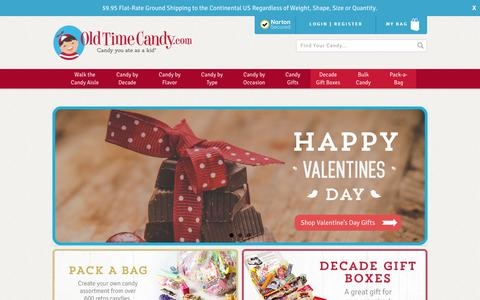 Screenshot of Home Page oldtimecandy.com - Old Fashioned and Retro Candy - Home of Candy you ate as a kid® - captured Jan. 17, 2016
