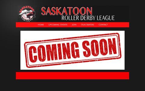 Screenshot of About Page saskatoonrollerderby.com - Saskatoon Roller Derby League - About Us - captured Nov. 28, 2018