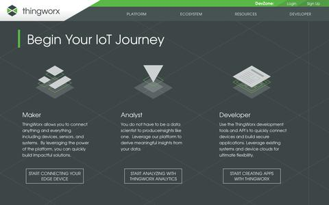 Homepage - Developer Zone : ThingWorx