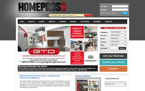 Screenshot of Home Page homeprosguide.com - Home Pros Guide | Home Improvement Magazine & Advertising - captured May 21, 2017