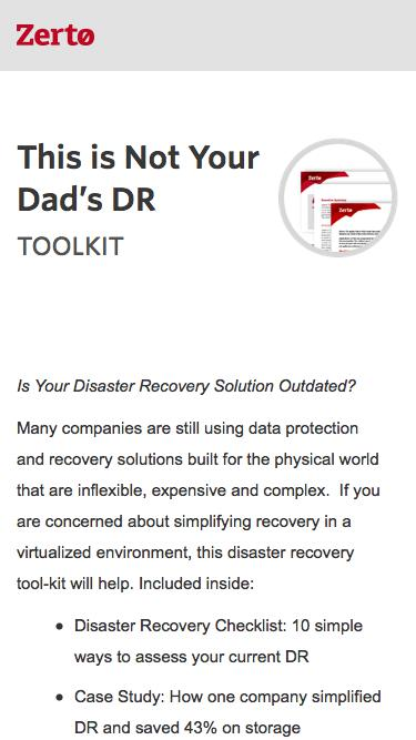 Not Your Dad's Disaster Recovery