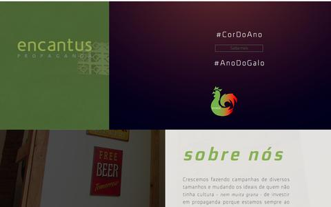Screenshot of Home Page encantuspropaganda.com.br - Encantus Propaganda - captured May 24, 2017