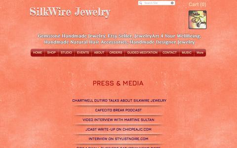 Screenshot of Press Page silkwirejewelry.com - SilkWire Jewelry Press - captured July 27, 2018