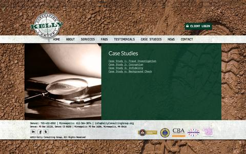 Screenshot of Case Studies Page kellyconsultinggroup.org - Case Studies | KCG | Corporate & Private Investigations | - captured Oct. 6, 2014