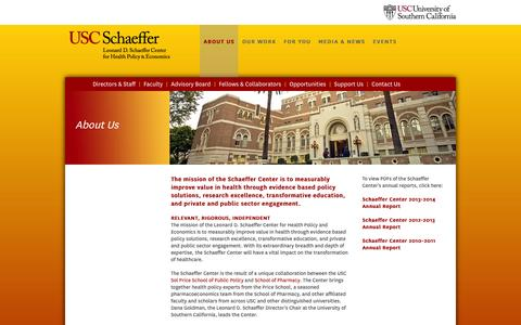 Screenshot of About Page usc.edu - ABOUT US - captured Sept. 18, 2014