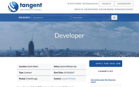 Screenshot of Developers Page tanint.com - Developer with ref.  -  Tangent International - captured Oct. 28, 2017