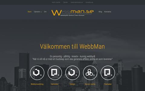 Screenshot of Home Page webbman.se - WebbMan - webbyrån som kan joomla - wordpress - captured March 4, 2016