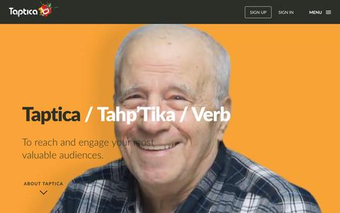 Screenshot of About Page taptica.com - About | Taptica - captured Oct. 22, 2015