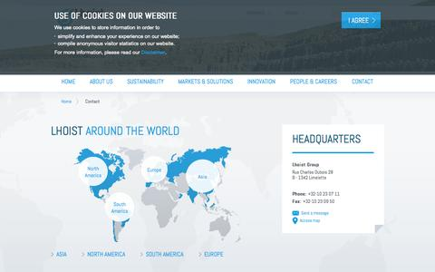 Screenshot of Contact Page lhoist.com - Lhoist - captured Sept. 30, 2014