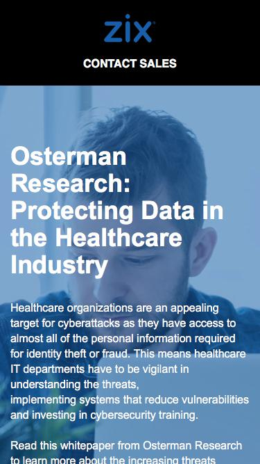 Protecting Data in the Healthcare Industry