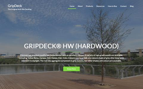 Screenshot of Home Page gripdeck.co.uk - GripDeck® The Original Anti-Slip Decking, Non-Slip Inserts & Boards - captured Nov. 5, 2018