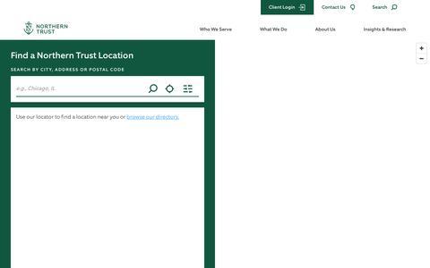 Screenshot of Locations Page northerntrust.com - Find a Northern Trust Location   Wealth Management, Asset Management, and Asset Servicing - captured June 18, 2019