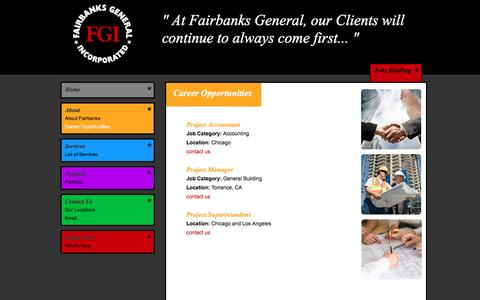 Screenshot of Jobs Page fairbanksgeneral.com - Fairbanks General Incorporated, Construction Management Career Opportunitiess - captured Nov. 24, 2016