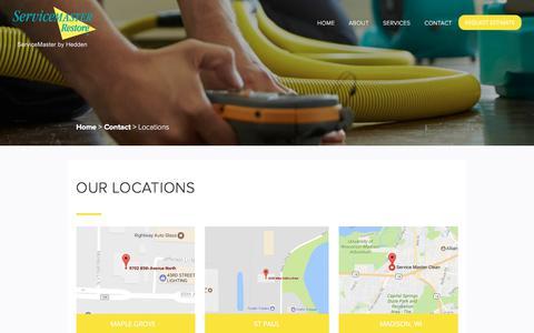 Screenshot of Locations Page smbyhedden.com - Locations | ServiceMaster - captured Nov. 5, 2017
